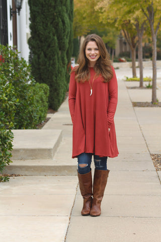 Basic Marsala Tunic