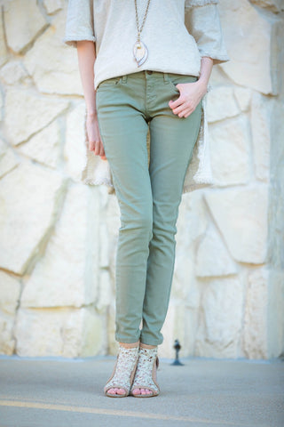 Skinny Denim in Sage