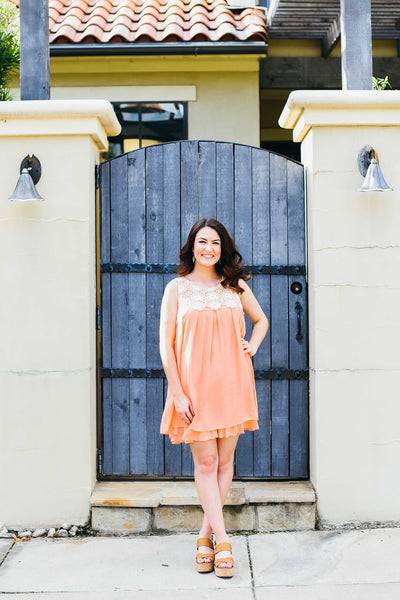 Peaches and Cream Shift Dress