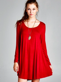 Basic Burgundy Tunic