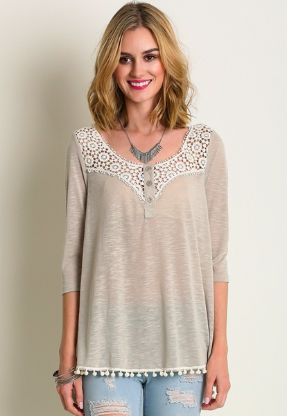 Having a Ball Top in Taupe