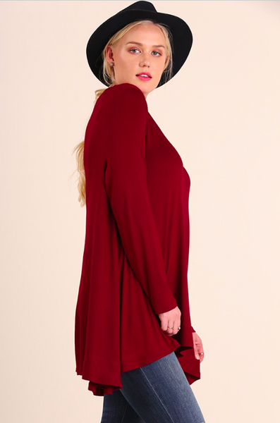 Basic Burgundy Tunic - Curvy