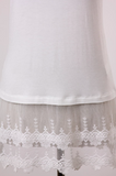 Lace Trim Shirt Extender in Ivory