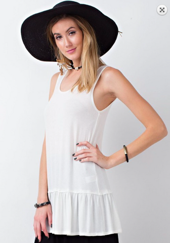 Lace Back Layering Tunic in Ivory