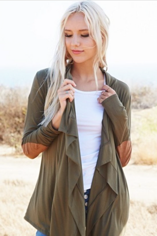 Comfy Cozy Cardi in Olive