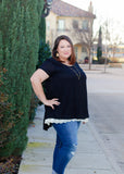 Catch My Eye Top in Black - Curvy