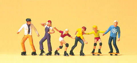 Preiser 10074 Rollerskates and Skateboard