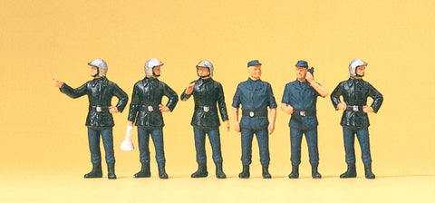 Preiser 10232 French Firefighting men