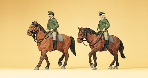 Preiser 10390 Horse riding police germany
