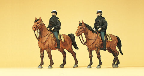 Preiser 10397 Horse riding police USA