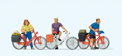 Preiser 10637 Standing Cyclists
