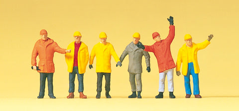 Preiser 14034 Workers in Safety clothing