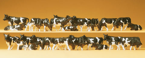 Preiser 14408 Cows Black & White. 30 Figures