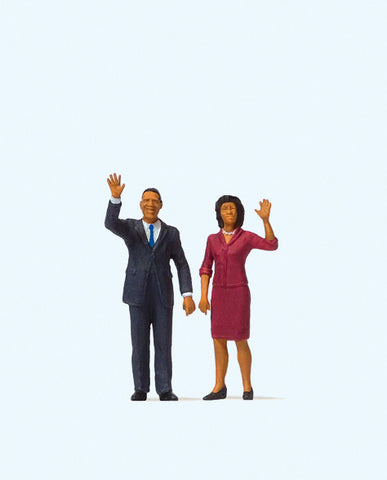 Preiser 28144 President Obama and The First Lady