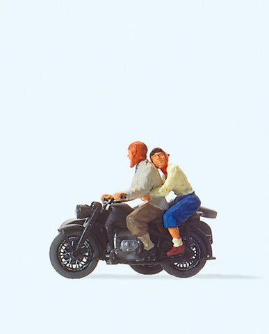 Preiser 28148 Motorcyclists Zuendapp KS 75