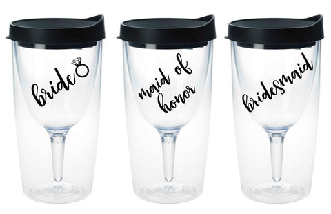 Bridal Party Wine Tumblers