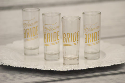Team Bride Shot Glasses