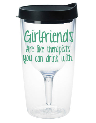 Girlfriends Wine Tumbler