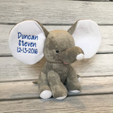 Baby Stats Stuffed Elephant
