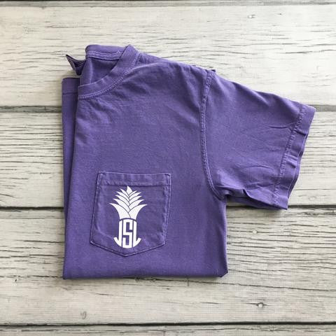 Pineapple Monogram Pocket Tee