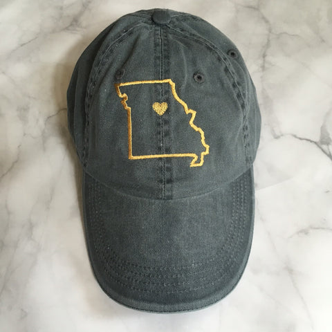 Missouri Love Embroidered Hat