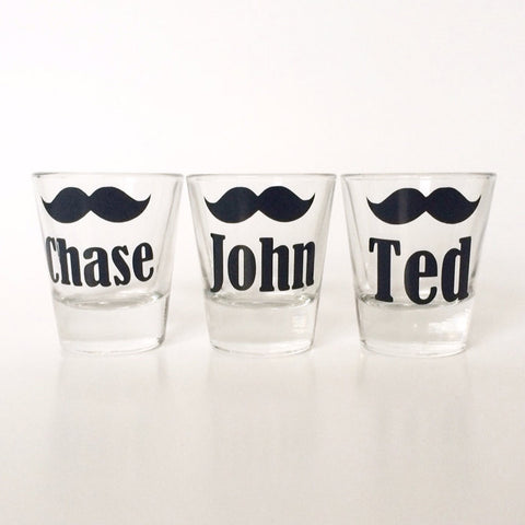 Mustache Shot Glasses