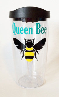 Queen Bee Wine Tumbler