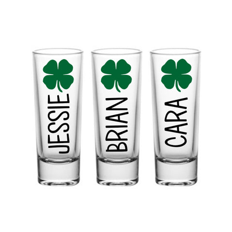 St. Patrick's Day Shamrock Shot Glasses