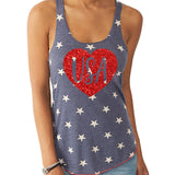 USA Heart Tank Top