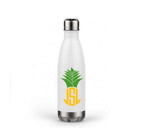 Pineapple Monogram Water Bottle