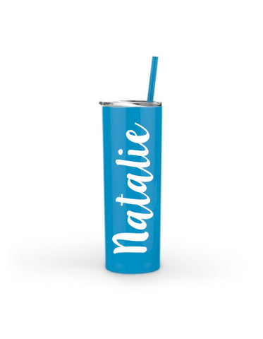 PERSONALIZED Name Skinny Tumbler with Lid and Straw