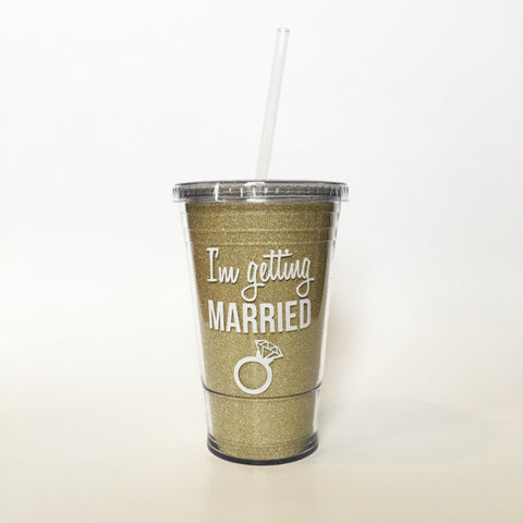I'm Getting Married Glitter Tumbler