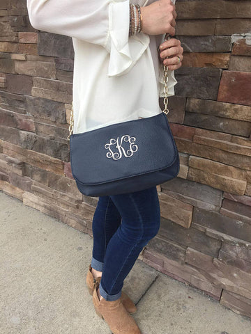 Monogrammed Cross Body Purse