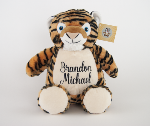 Embroidered Custom Tiger Stuffed Animal
