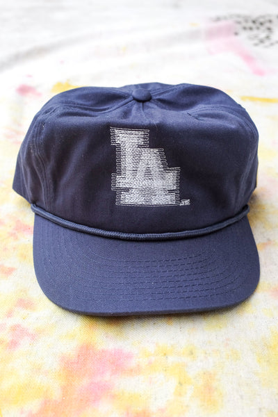 Blurry LA Cap - Navy Twill - Clothing and Home Goods in Los Angeles - Virgil Normal