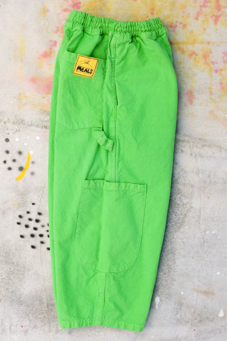 chef pants lime meals clothing 5 pockets baggy fit elastic waistband drawstring side