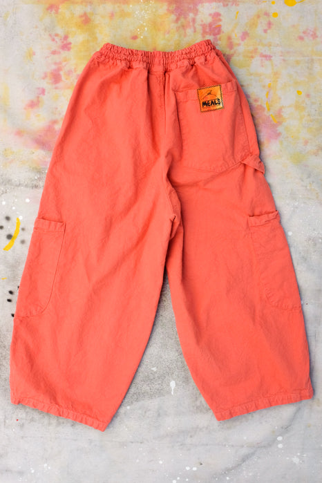 chef pants by meals clothing passion fruit color 5 pockets tong holder elastic waistband with drawstring