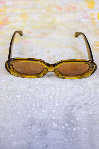 the bikini vision sunglasses crystal kelp with mustard lenses cr39 uv protection