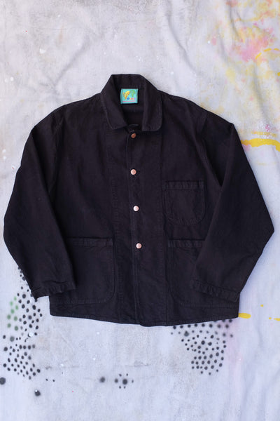 forager jacket licorice meals clothing heavy cotton twill large pockets for Randys donuts baguettes copper pan buttons Virgil Normal clothing and home goods