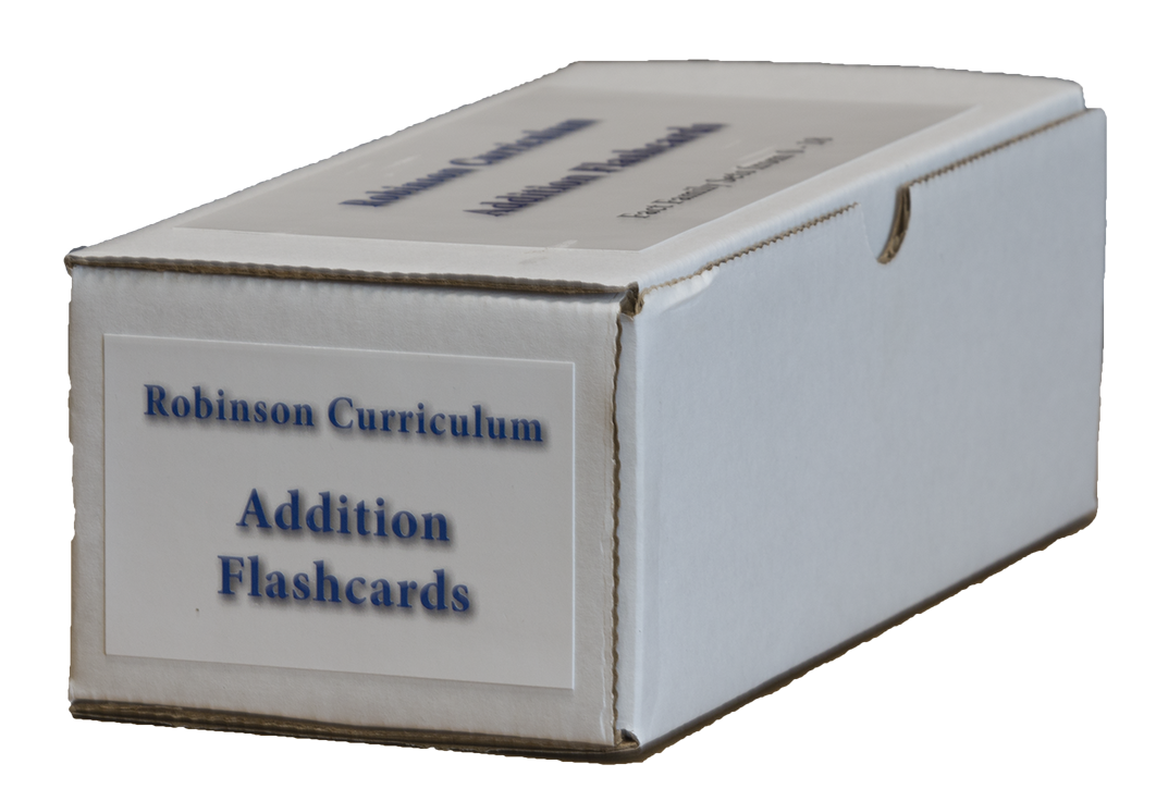Robinson Curriculum Addition Flashcards