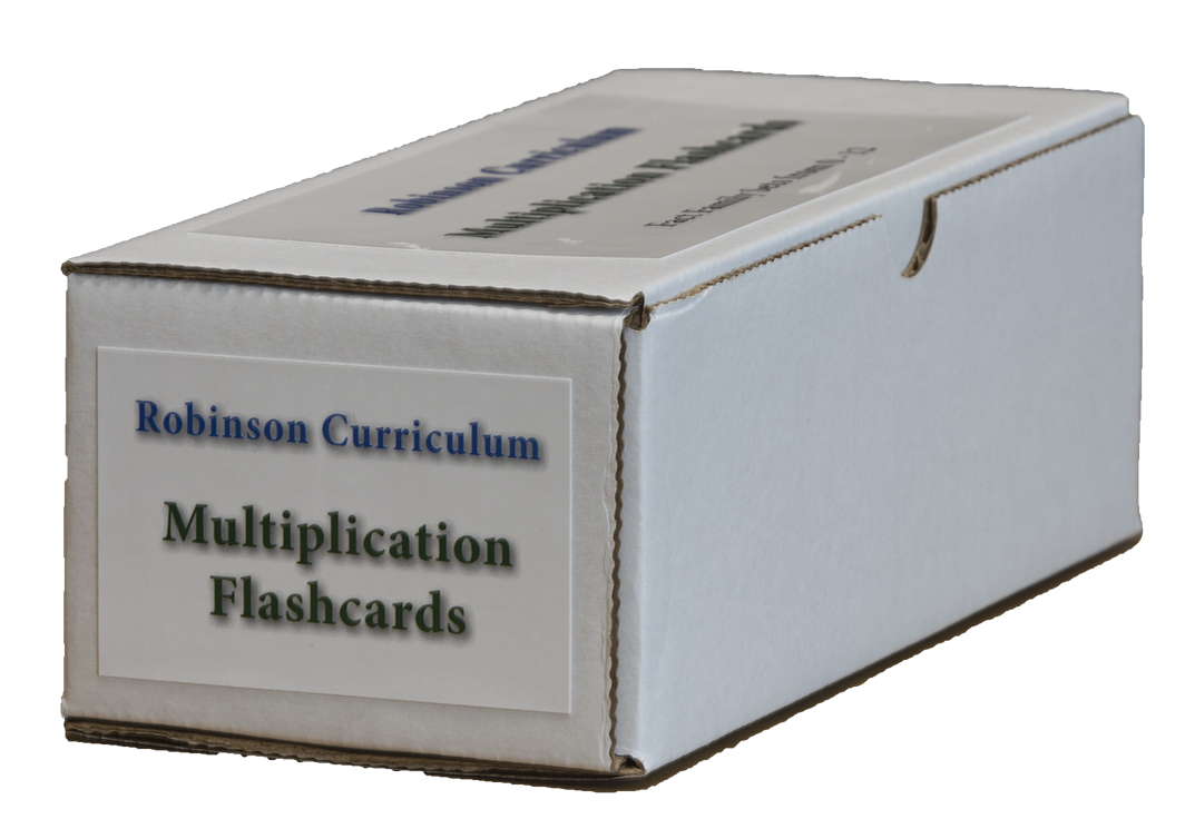 Robinson Curriculum Multiplication Flashcards