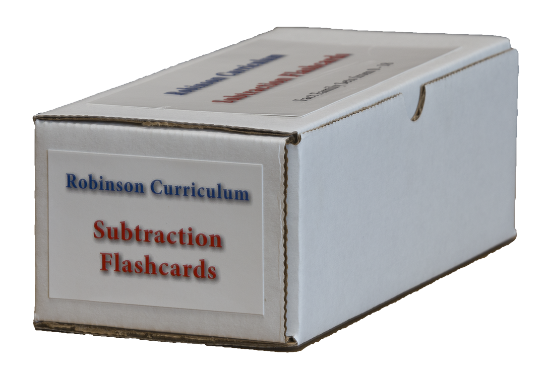 Robinson Curriculum Subtraction Flashcards