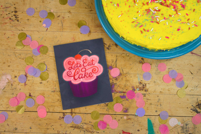 Let's Eat Cake Greeting Card  |  Lori Danelle