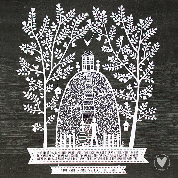 Hand-in-Hand Paper Cutting  |  Lori Danelle