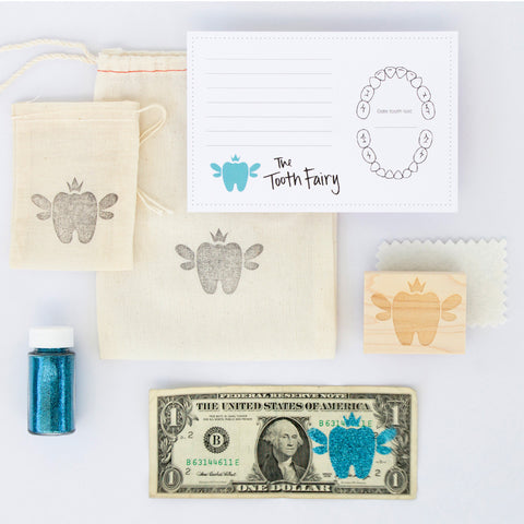 Tooth Fairy Visit Kit | Blue or Pink