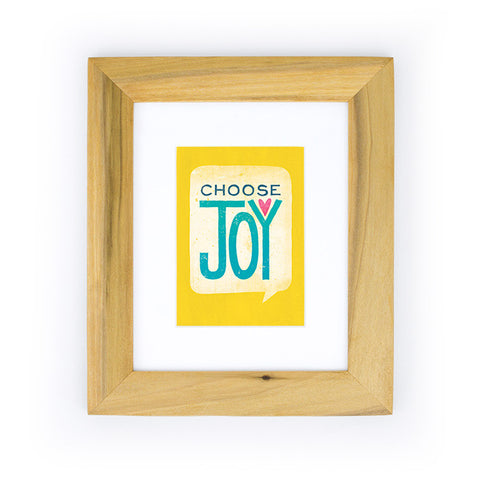 Choose Joy Art Print | Yellow