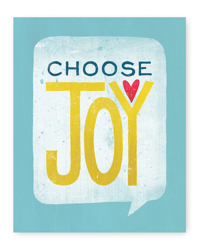 Choose Joy Art Print | Blue