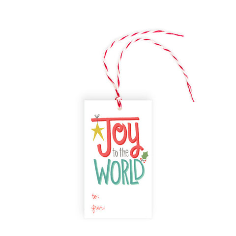 Joy to the World - Gift Tag - Pack of 10