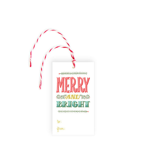 Merry & Bright - Gift Tag - Pack of 10