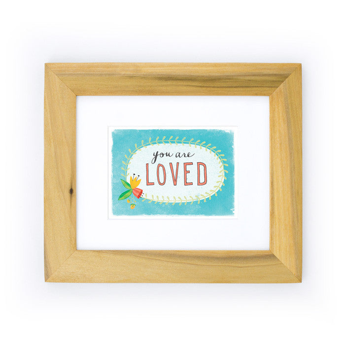 You Are Loved Art Print | Blue